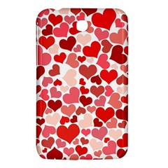 Abstract Background Decoration Hearts Love Samsung Galaxy Tab 3 (7 ) P3200 Hardshell Case
