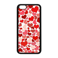 Abstract Background Decoration Hearts Love Apple Iphone 5c Seamless Case (black)