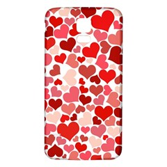 Abstract Background Decoration Hearts Love Samsung Galaxy S5 Back Case (white)