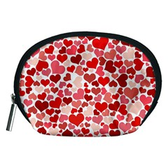 Abstract Background Decoration Hearts Love Accessory Pouches (medium)