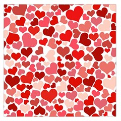 Abstract Background Decoration Hearts Love Large Satin Scarf (square)