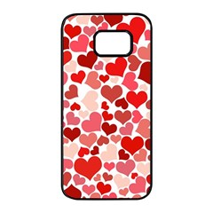 Abstract Background Decoration Hearts Love Samsung Galaxy S7 Edge Black Seamless Case