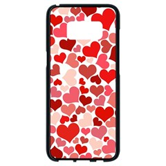 Abstract Background Decoration Hearts Love Samsung Galaxy S8 Black Seamless Case