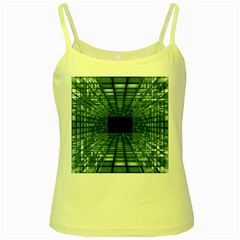 Abstract Perspective Background Yellow Spaghetti Tank