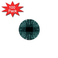 Abstract Perspective Background 1  Mini Buttons (100 Pack)