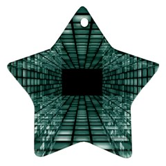 Abstract Perspective Background Star Ornament (two Sides)