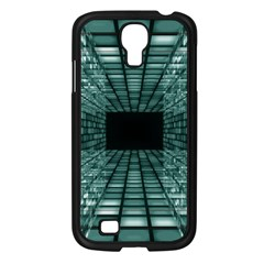 Abstract Perspective Background Samsung Galaxy S4 I9500/ I9505 Case (black)
