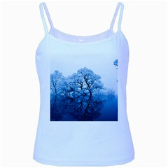 Nature Inspiration Trees Blue Baby Blue Spaghetti Tank
