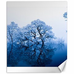 Nature Inspiration Trees Blue Canvas 20  X 24