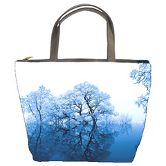 Nature Inspiration Trees Blue Bucket Bags