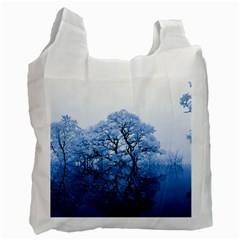 Nature Inspiration Trees Blue Recycle Bag (one Side)