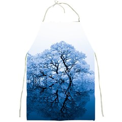 Nature Inspiration Trees Blue Full Print Aprons
