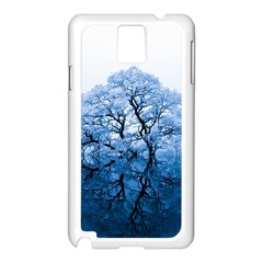 Nature Inspiration Trees Blue Samsung Galaxy Note 3 N9005 Case (white)