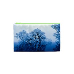 Nature Inspiration Trees Blue Cosmetic Bag (xs)