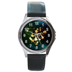 Heart Love Universe Space All Sky Round Metal Watch