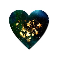 Heart Love Universe Space All Sky Heart Magnet by Nexatart