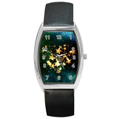 Heart Love Universe Space All Sky Barrel Style Metal Watch
