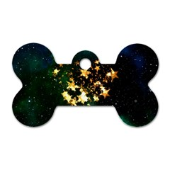 Heart Love Universe Space All Sky Dog Tag Bone (one Side)