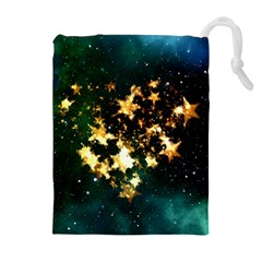 Heart Love Universe Space All Sky Drawstring Pouches (extra Large)