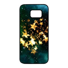 Heart Love Universe Space All Sky Samsung Galaxy S7 Edge Black Seamless Case