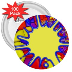 Embroidery Dab Color Spray 3  Buttons (100 Pack)
