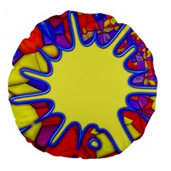 Embroidery Dab Color Spray Large 18  Premium Round Cushions