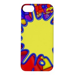 Embroidery Dab Color Spray Apple Iphone 5s/ Se Hardshell Case