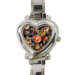 Color Box Colorful Art Artwork Heart Italian Charm Watch