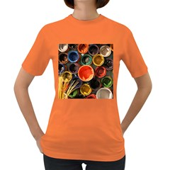 Color Box Colorful Art Artwork Women s Dark T Shirt