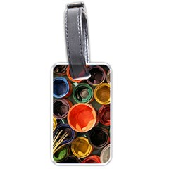 Color Box Colorful Art Artwork Luggage Tags (two Sides)