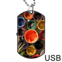 Color Box Colorful Art Artwork Dog Tag Usb Flash (two Sides)