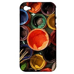 Color Box Colorful Art Artwork Apple Iphone 4/4s Hardshell Case (pc+silicone)