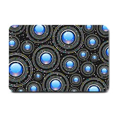 Background Abstract Glossy Blue Small Doormat