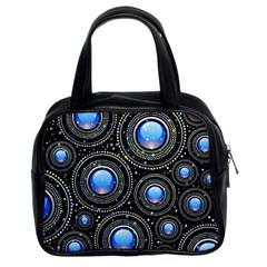 Background Abstract Glossy Blue Classic Handbags (2 Sides)