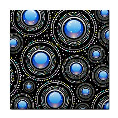 Background Abstract Glossy Blue Face Towel
