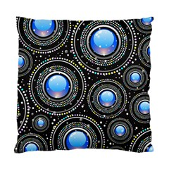 Background Abstract Glossy Blue Standard Cushion Case (one Side)