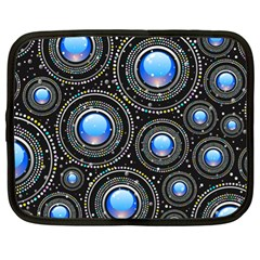 Background Abstract Glossy Blue Netbook Case (xl)