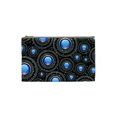 Background Abstract Glossy Blue Cosmetic Bag (small)