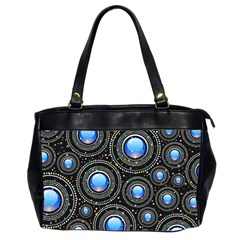 Background Abstract Glossy Blue Office Handbags (2 Sides)