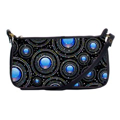 Background Abstract Glossy Blue Shoulder Clutch Bags by Nexatart