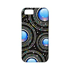 Background Abstract Glossy Blue Apple Iphone 5 Classic Hardshell Case (pc+silicone)
