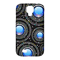 Background Abstract Glossy Blue Samsung Galaxy S4 Classic Hardshell Case (pc+silicone)