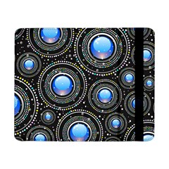 Background Abstract Glossy Blue Samsung Galaxy Tab Pro 8 4  Flip Case