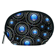 Background Abstract Glossy Blue Accessory Pouches (medium)