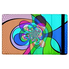 Retro Wave Background Pattern Apple Ipad 2 Flip Case