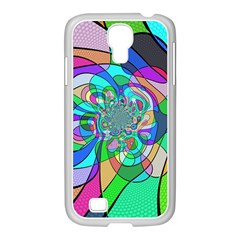 Retro Wave Background Pattern Samsung Galaxy S4 I9500/ I9505 Case (white)