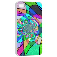Retro Wave Background Pattern Apple Iphone 4/4s Seamless Case (white)