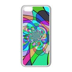 Retro Wave Background Pattern Apple Iphone 5c Seamless Case (white)