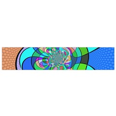 Retro Wave Background Pattern Small Flano Scarf