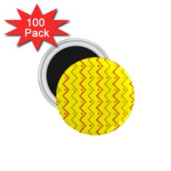 Yellow Background Abstract 1 75  Magnets (100 Pack)